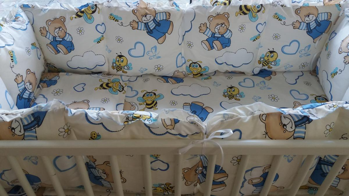 "спален комплект с обиколник -  ""Пчелички"""
