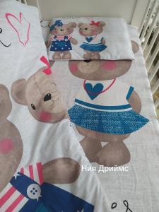 """ЛУКС бебешки спални комплекти """"Теди"""" 5 части"""