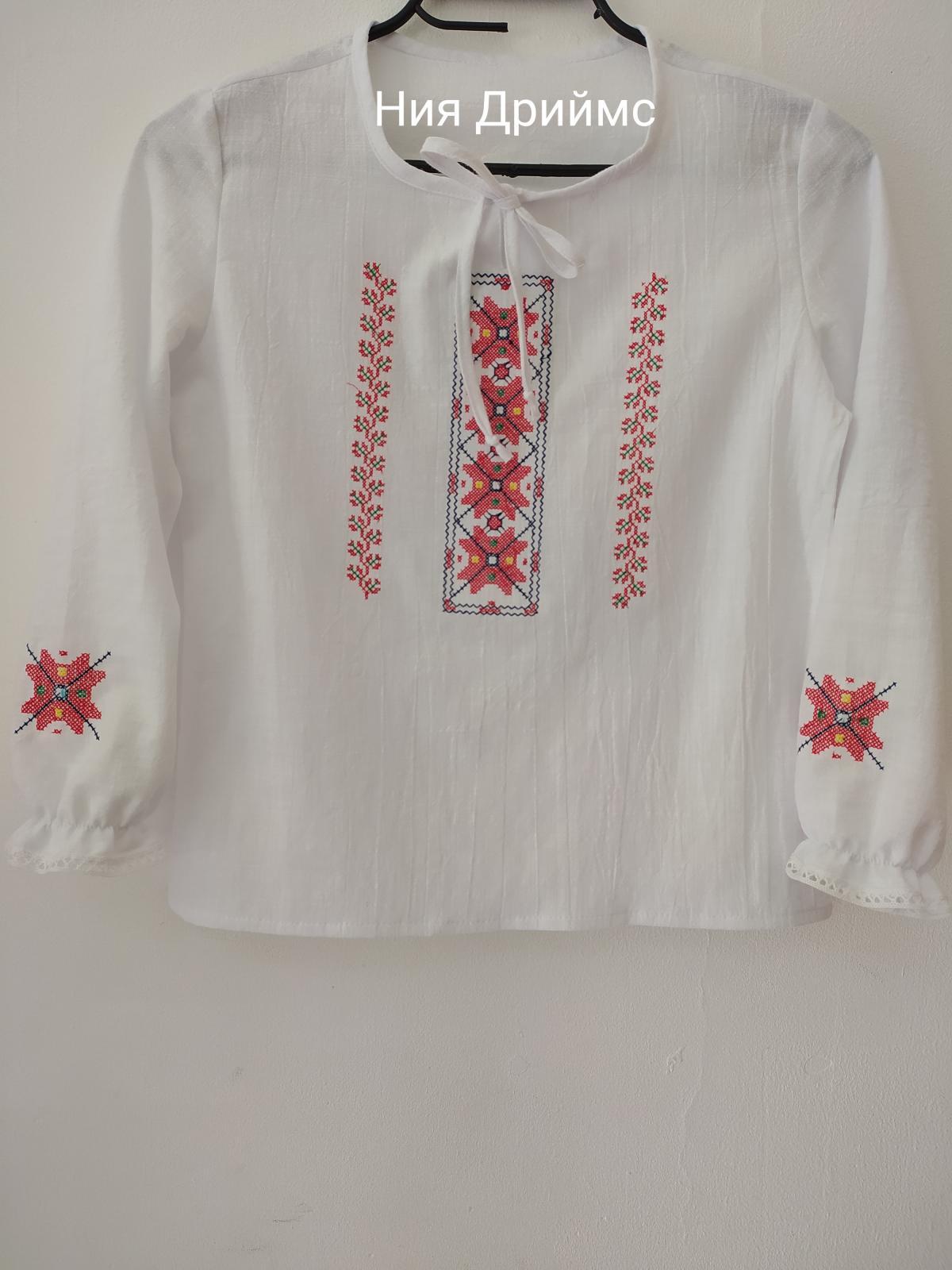 Детска риза с шевица